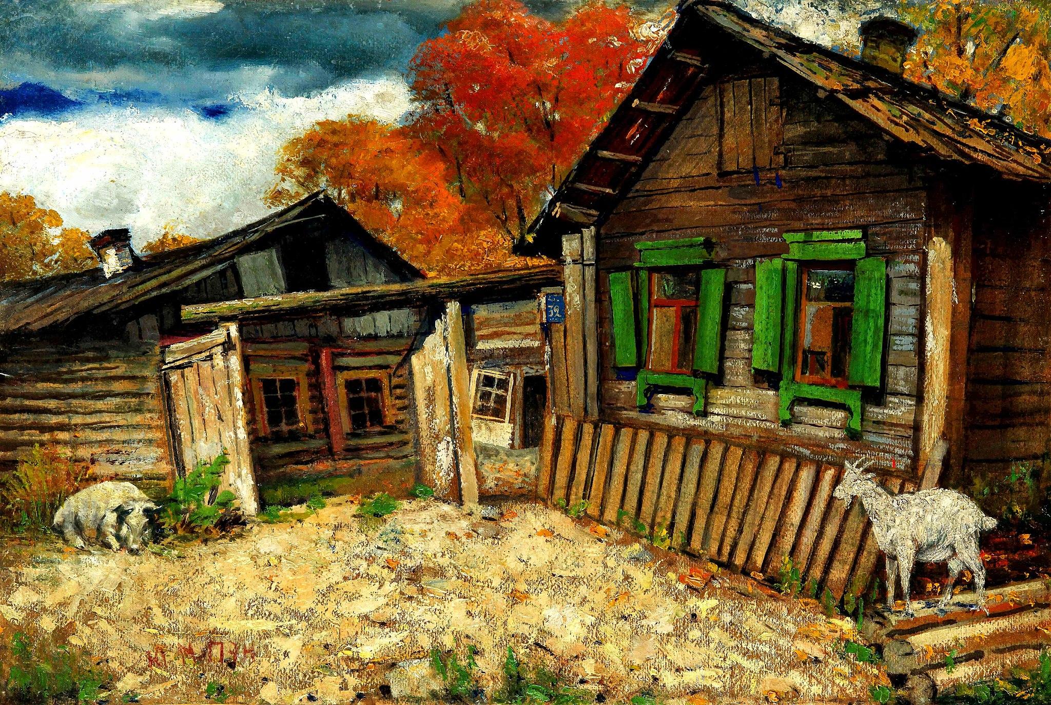 Białoruska chata z kraja