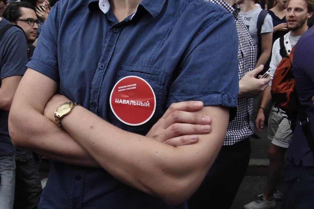 Wyborca Nawalnego na proteście