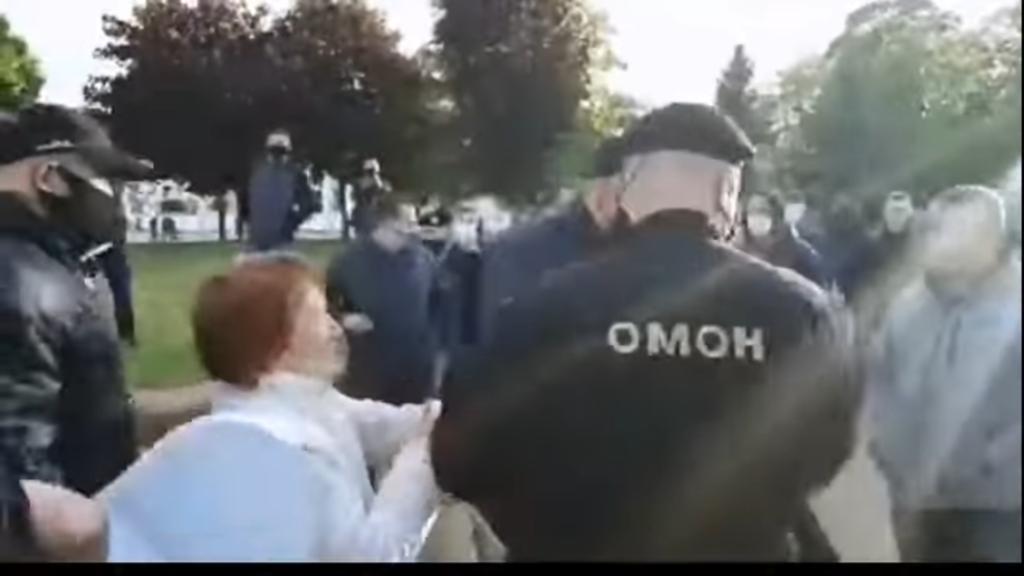 Zatrzymanie Siarhieja Cihanouskiego w Grodnie