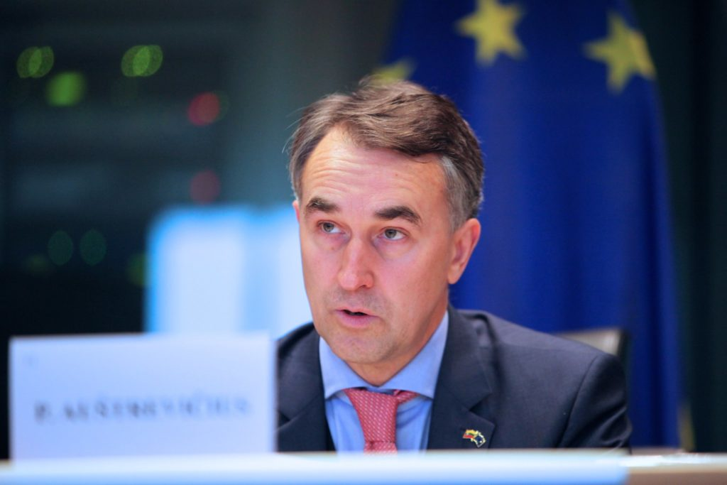 Petras Austrevicius deputowany europarlamentu wnioskuje o nałożenie sankcji na Białoruś