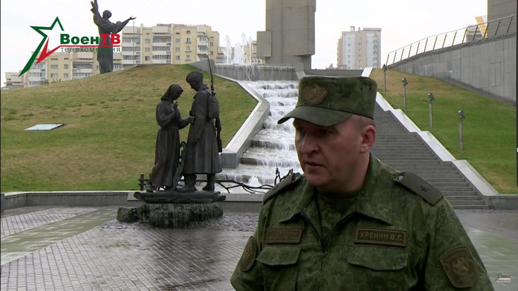 Wiktar Chrenin pod Muzeum Wielkiej Wojny Ojczyźnianej