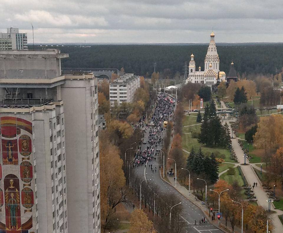 Białorusini tradycyjnie wyszli na marsz protestu. Tym razem poszli na uroczysko Kuropaty