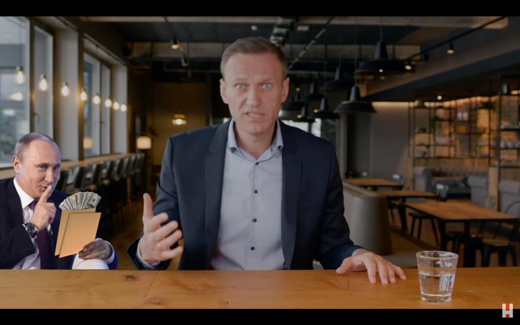 Kadr z filmu Pałac dla Putina Aleksieja Nawalnego