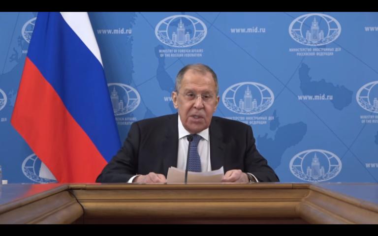 Coroczne wystąpienie Ławrowa. Nawalny przykrywa Białoruś