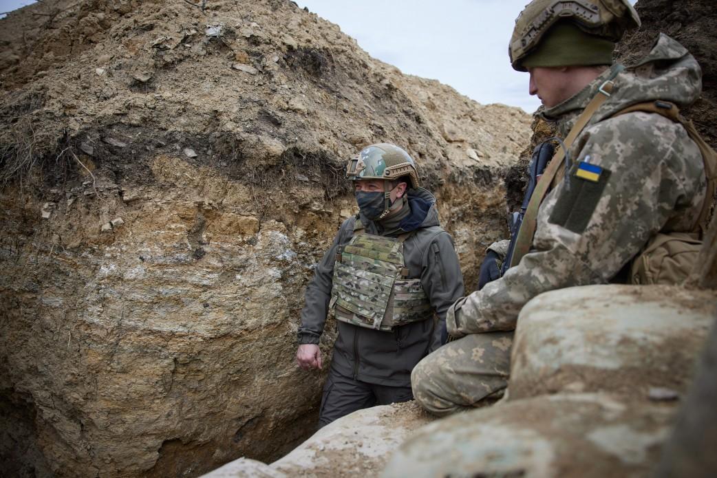 Prezydent Ukrainy odwiedził pozycje swoich wojsk w Donbasie