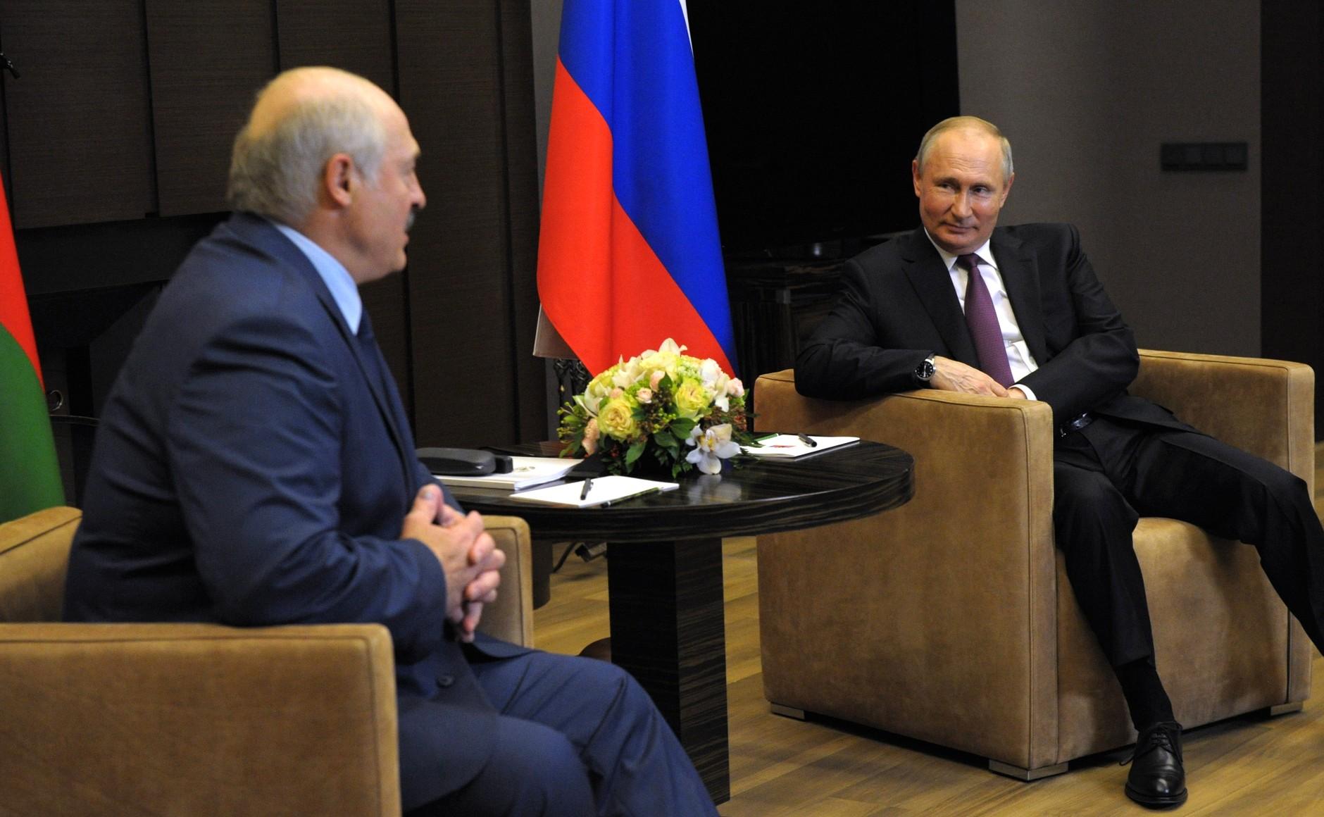 Spotkanie Władimira Putina i Alaksandra Łukaszenki w Soczi 28 maja 2021