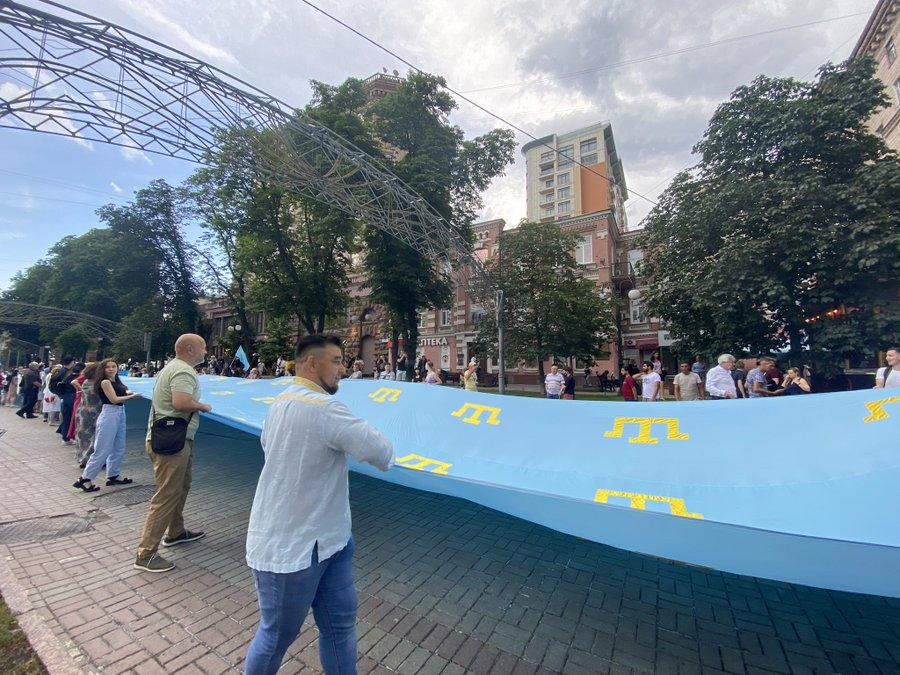 W Kijowie uczczono Dzień Flagi Tatarów Krymskich