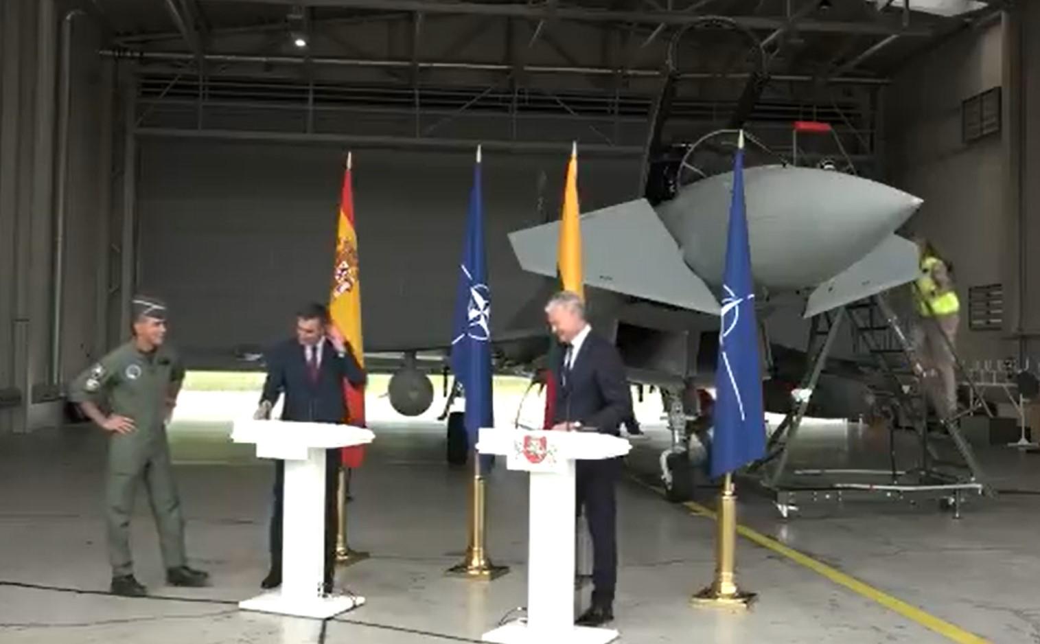 Rosyjski myśliwiec przeszkodził w konferencji prasowej na Litwie