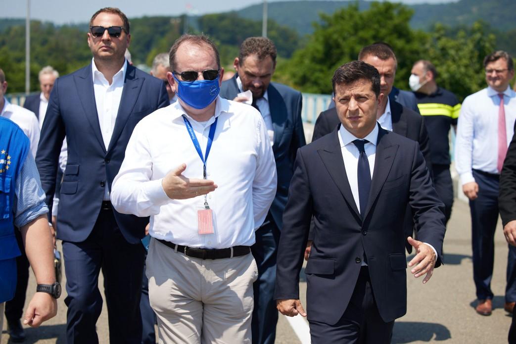 Zełenski udał się na granicę z okupowaną Abchazją