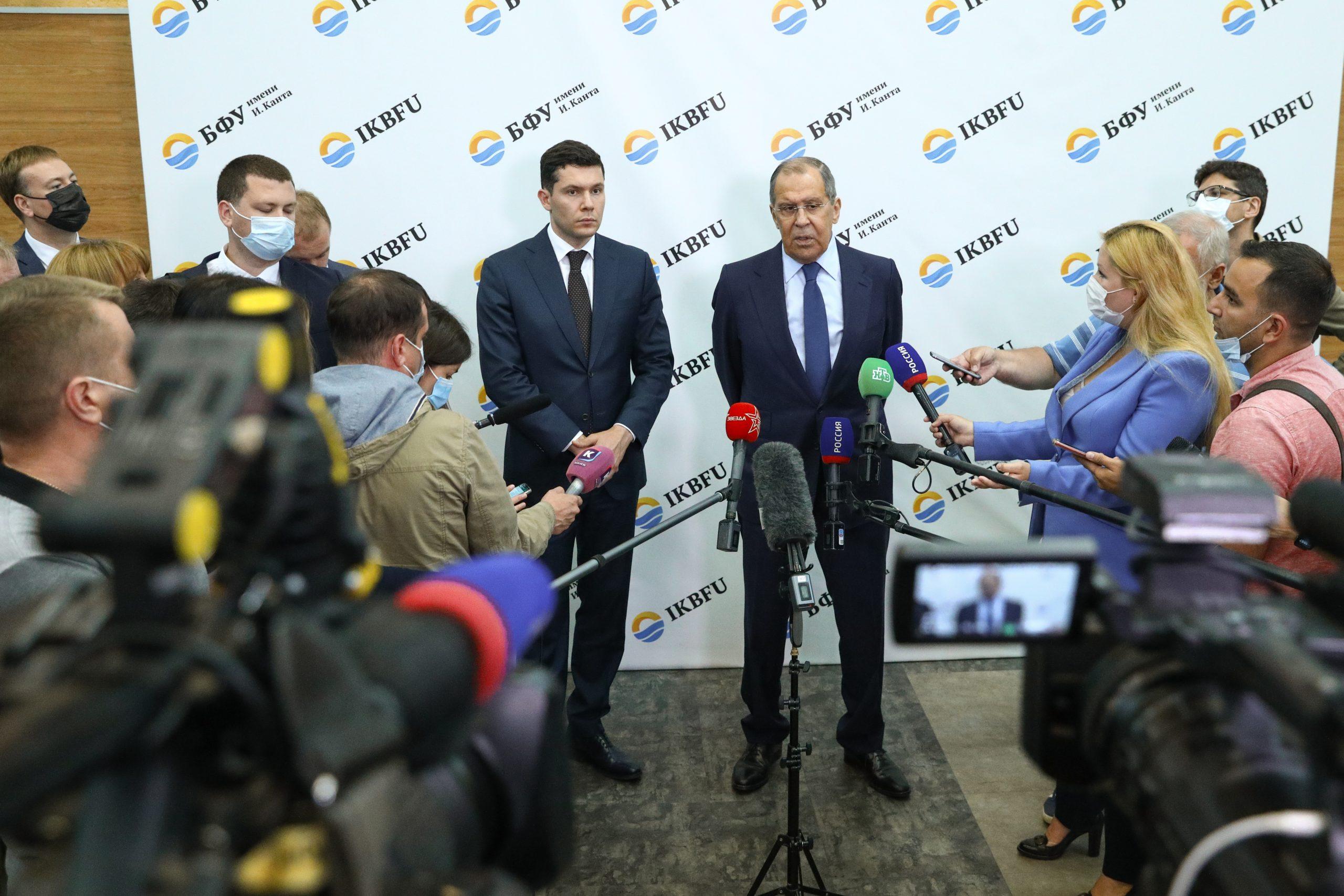 Siergiej Ławrow podczas konferencji prasowej w BFU w Kaliningradzie skomentował możliwość uznania rządu talibów w Afganistanie