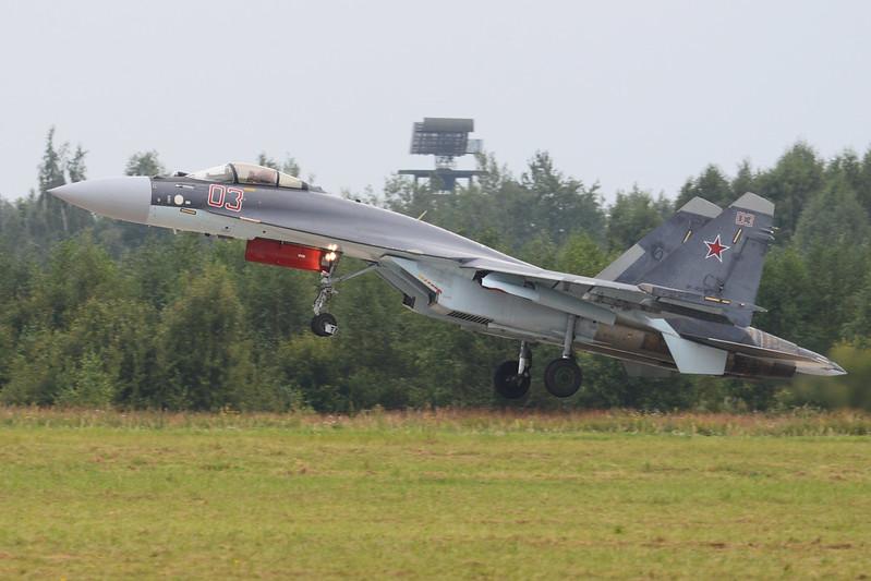 Samolot Su-35S rozbił się na Morzu Ochockim