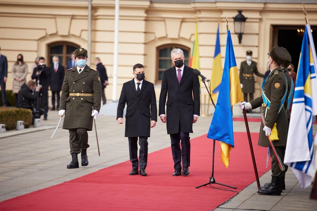 Prezydent Ukrainy przeprowadził rozmowę telefoniczną z Prezydentem Republiki Litewskiej