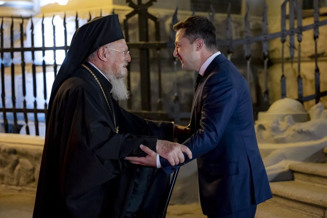 Zełenski spotkał się z Patriarchą Bartłomiejem