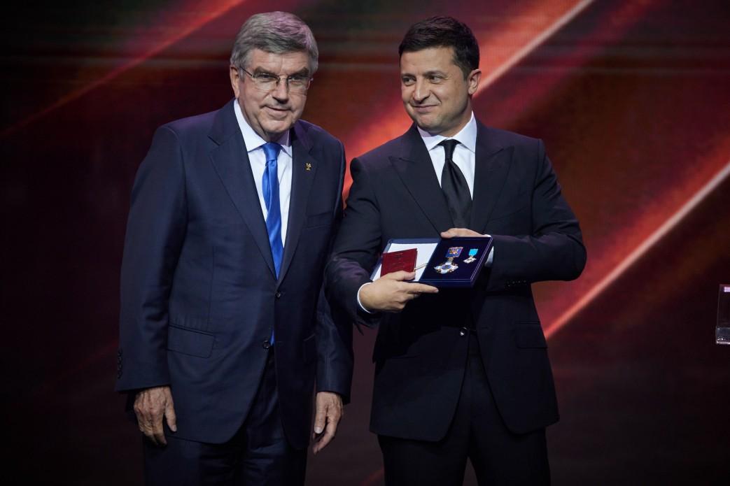 Spotkanie prezydenta Ukrainy z szefem MKOl