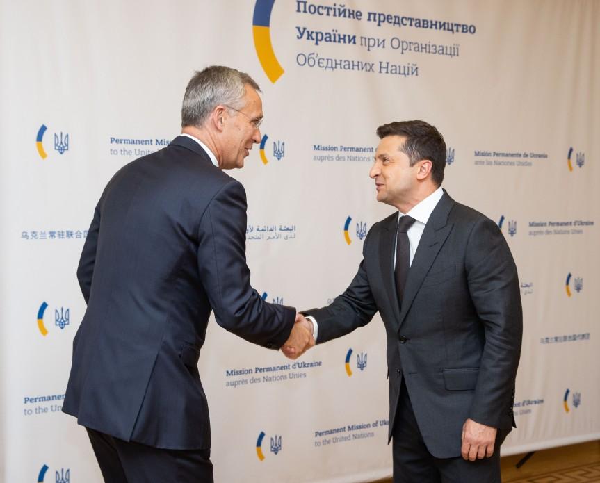 Wołodymyr Zełenski spotkał się w Nowym Jorku z sekretarzem generalnym NATO