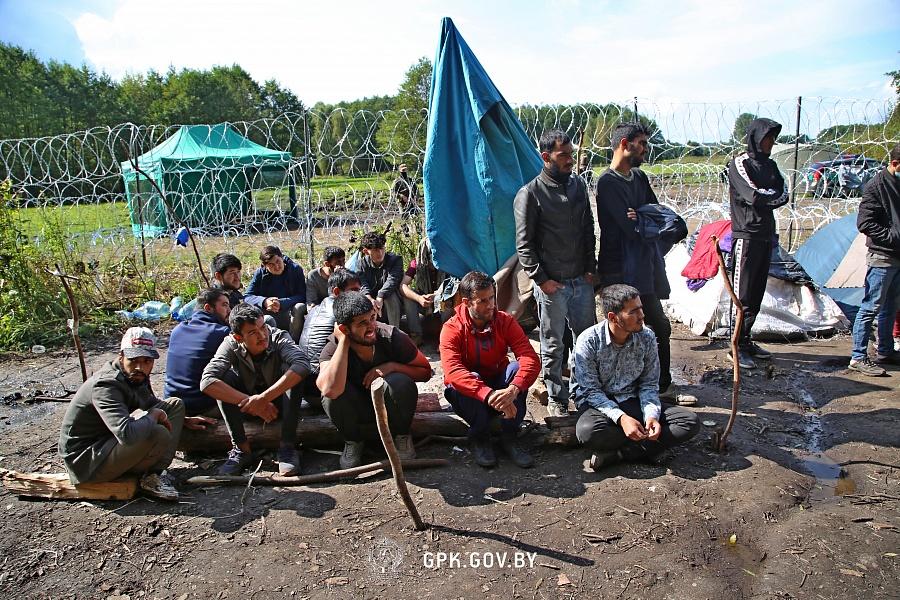 Tak najprawdopodobniej wygląda teraz obóz migrantów pod Usnarzem Górnym