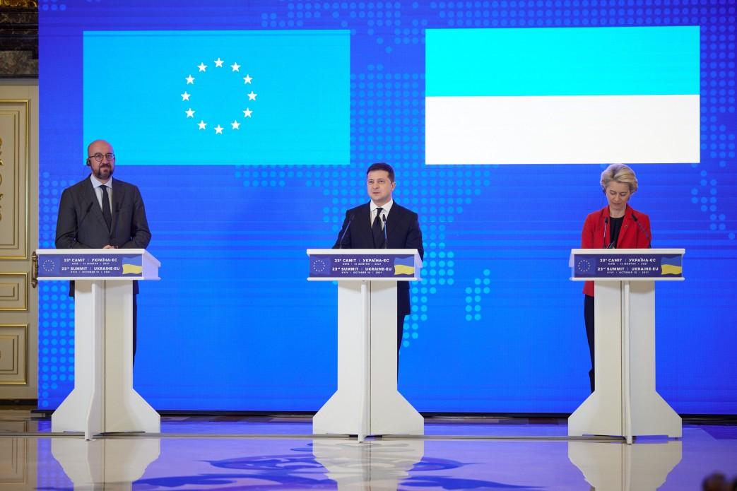 W Kijowie odbył się 23. szczyt Ukraina-Unia Europejska z udziałem prezydenta Wołodymyra Zełenskiego i przywódców UE